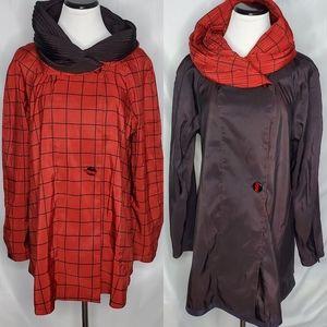 Mycra Pac Stripe Mini Donatella Red Raincoat
